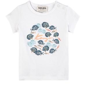 Kenzo Kids White Under The Sea T-Shirt 18 months
