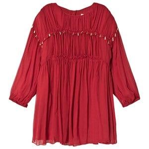 Chloé Chloé Red Silk Crepe Dress 5 years