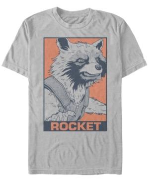 Marvel Men's Guardians of the Galaxy Pop Art Rocket Short Sleeve T-Shirt