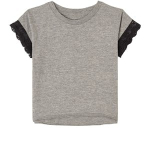How To Kiss A Frog Grey Lace Detail T-Shirt 4 Years