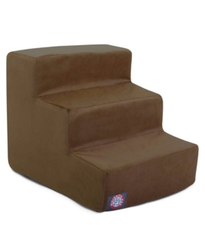 Majestic Pet 3 Steps Suede Pet Stairs
