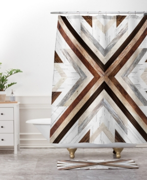 Deny Designs Iveta Abolina Geo Wood 4 Bath Mat Bedding