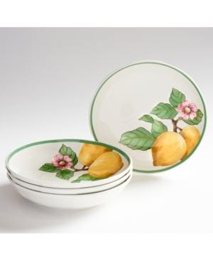 Villeroy & Boch French Garden Modern Lemons Pasta Bowls set of 4