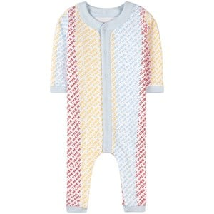 The Marc Jacobs The Marc Jacobs White Logo Striped One-Piece 9 months