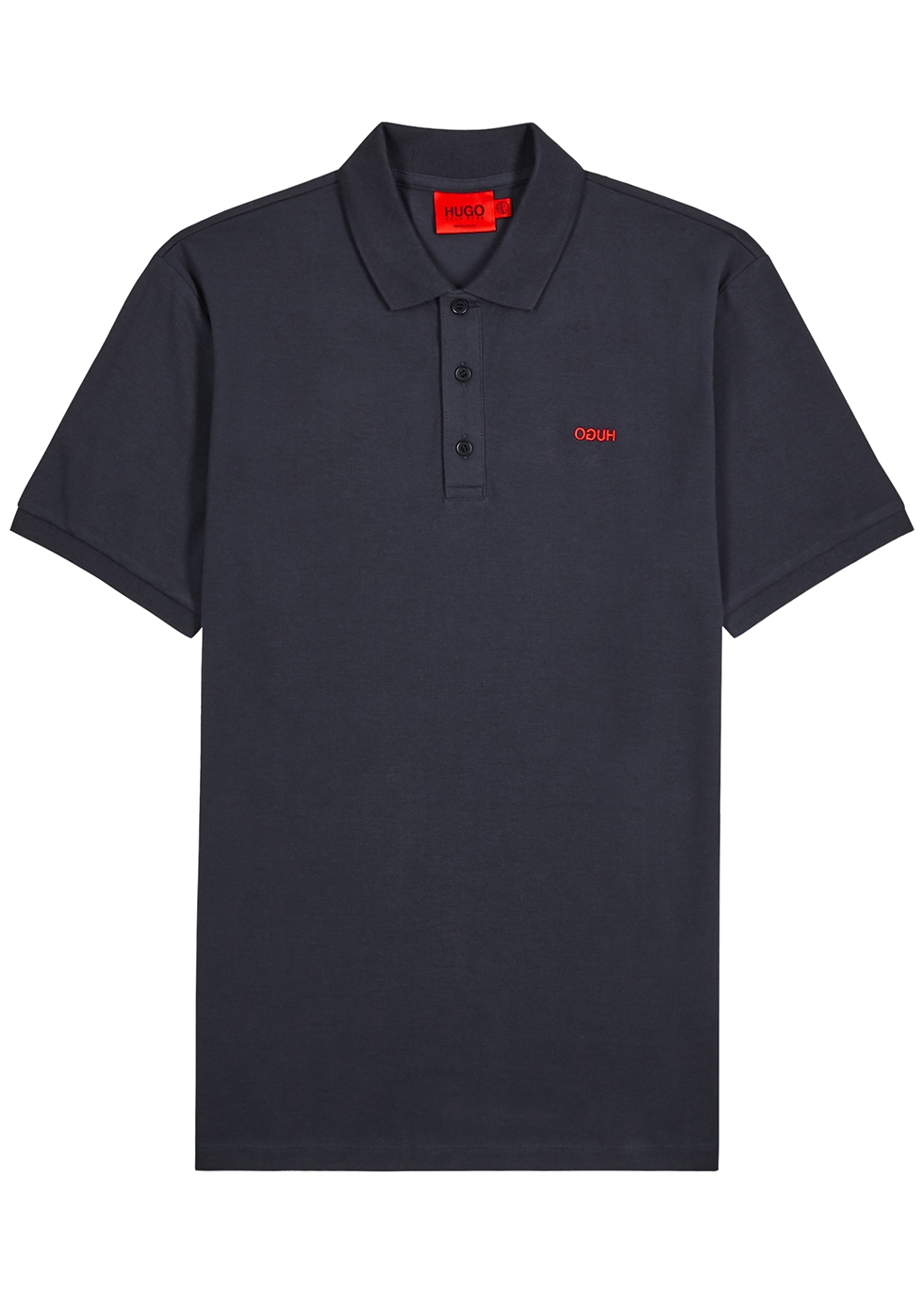 Donos navy piqué cotton polo shirt