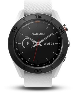 Garmin Unisex Approach S60 White Silicone Strap Touchscreen Smart Watch 46mm