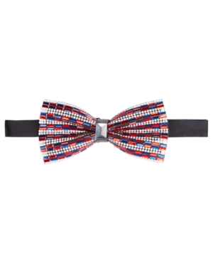 Tallia Men's Navy & Red Beaded Bow Tie