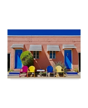 """American School Motel Doors and Chairs Canvas Art - 37"""" x 49"""""""