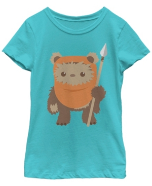 Fifth Sun Star Wars Big Girl's Wicket Ewok Chibi Kawaii Cute Short Sleeve T-Shirt