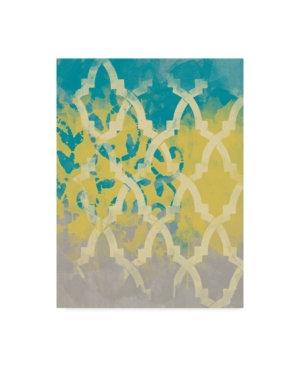 """Alonzo Saunders Yellow in the Middle Ii Canvas Art - 37"""" x 49"""""""