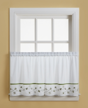 """Chf Clover 58"""" x 24"""" Pair of Tier Curtains"""