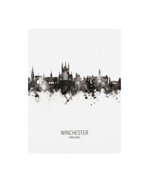 "Michael Tompsett Winchester England Skyline Portrait Ii Canvas Art - 19.5"" x 26"""