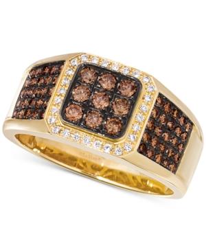 Le Vian Chocolatier Men's Diamond Cluster Ring (7/8 ct. t.w.) in 14k Gold