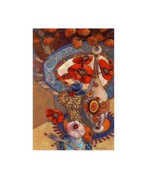 """David Galchutt Autumn Still Life Flowers in Vase Canvas Art - 36.5"""" x 48"""""""