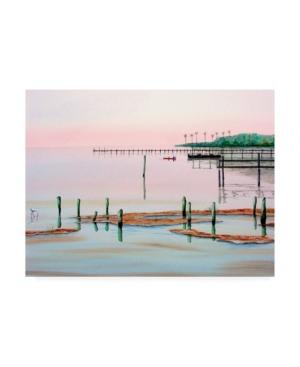 """Patrick Sullivan Fishing Broken Pier Canvas Art - 27"""" x 33.5"""""""