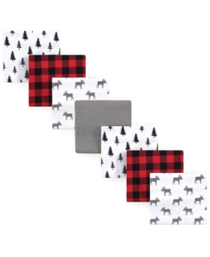 Hudson Baby One size Flannel Receiving Blankets, 7 Pack