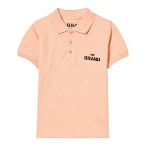 The BRAND Peach Logo Print Polo Shirt 80/86 cm