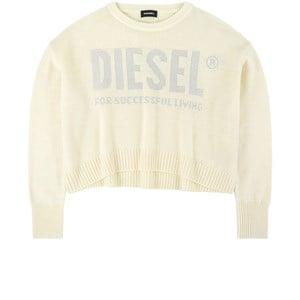 Diesel Cream Cropped Knit Jumper