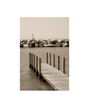 """Monte Nagler Pier Under Wave Break Canvas Art - 15"""" x 20"""""""