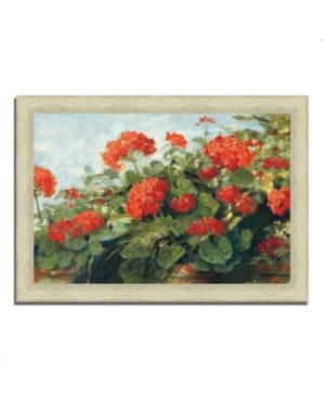 "Tangletown Fine Art Geranium Wave by Carol Rowan Framed Painting Print, 42"" x 30"""