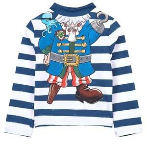 Stella McCartney Kids Blue Pirate Print Rash Guard 3 years