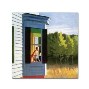 "Edward Hopper 'Cape Cod Morning' Canvas Art - 14"" x 14"" x 2"""