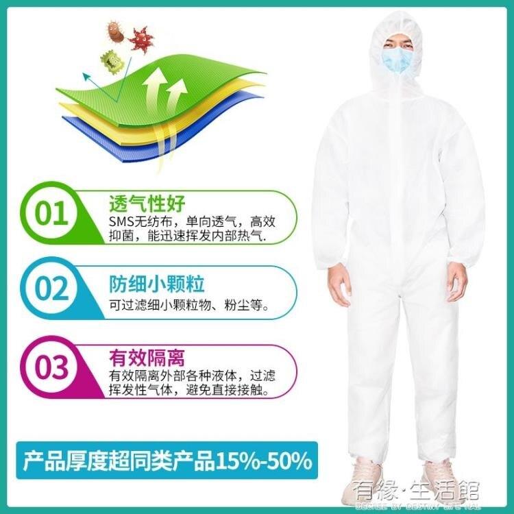 防護服 諾儀衣防護服醫護人員使用毒連身式防護一次性服全身防疫快速出貨