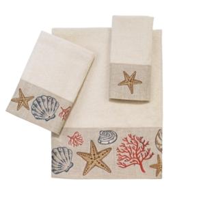 Avanti Sea Treasure Embroidered Fingertip Towel Bedding