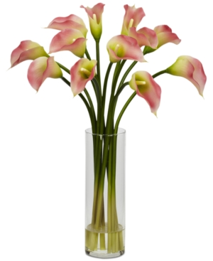 Nearly Natural Mini Calla Lily Artificial Flower Arrangement