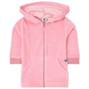 Småfolk Småfolk Pink Velour Hoodie 4-5 years
