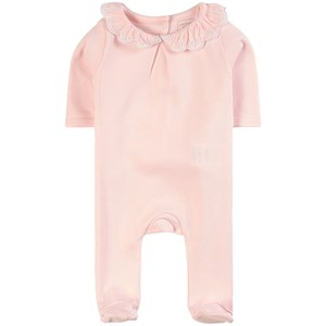 Carrément Beau Pink Ruffle Collar Footed Baby Body 3 months