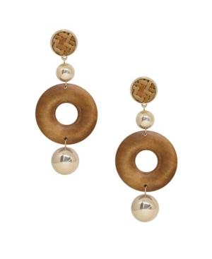 Ettika Beechwood Statement Earrings