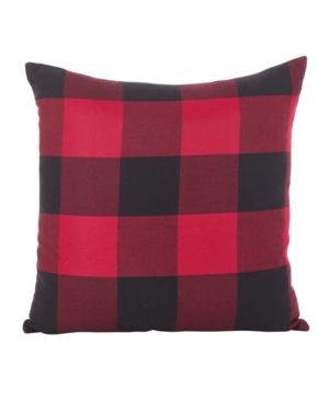 """Saro Lifestyle Buffalo Check Plaid Design Cotton Throw Pillow, 20"""" x 20"""""""