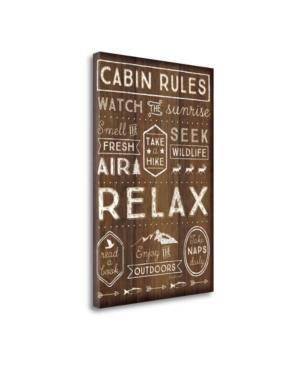 "Tangletown Fine Art Cabin Rules by Jennifer Pugh Giclee Print on Gallery Wrap Canvas, 17"" x 26"""