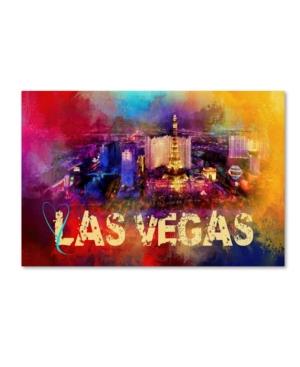 "Jai Johnson 'Sending Love To Las Vegas' Canvas Art - 32"" x 22"" x 2"""