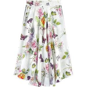 Monnalisa Off white Floral Pattern Midi Skirt 10 years