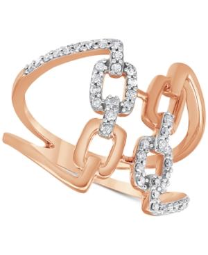 Diamond Openwork Statement Ring (1/4 ct. t.w.) in 10k Rose Gold