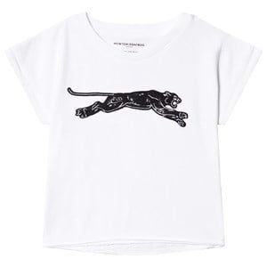 How To Kiss A Frog How To Kiss A Frog White Panther Print T Cut T-Shirt 4 Years