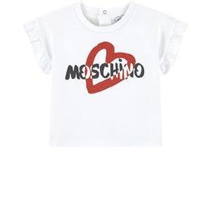 Moschino Moschino White Heart Frill T-Shirt 9-12 months