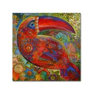 "Oxana Ziaka 'Toucan Deco' Canvas Art - 14"" x 14"" x 2"""