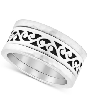Lois Hill Filigree Stack-Look Statement Ring in Sterling Silver