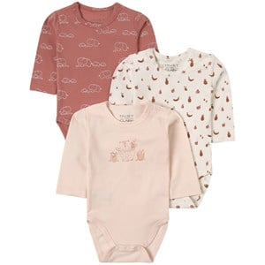 Hust & Claire Hust & Claire 3-Pack Wheat Base Baby Bodies 74 cm (6-9 Months)