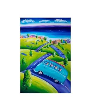 "Deborah Broughton Surf Weekend away Canvas Art - 19.5"" x 26"""