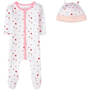 The Marc Jacobs The Marc Jacobs Pink Letter Print Footed Baby Body 9 months