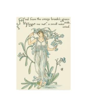 "Walter Crane Shakespeares Garden Vii (Forget me not) Canvas Art - 36.5"" x 48"""