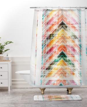 Deny Designs Iveta Abolina Cacti Stripe Pastel Bath Mat Bedding