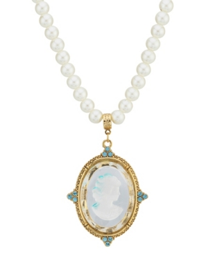 2028 Gold-Tone Pearl Necklace