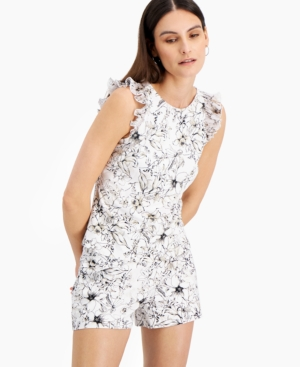 Inc Ruffled Floral-Print Top, Created for Macy's