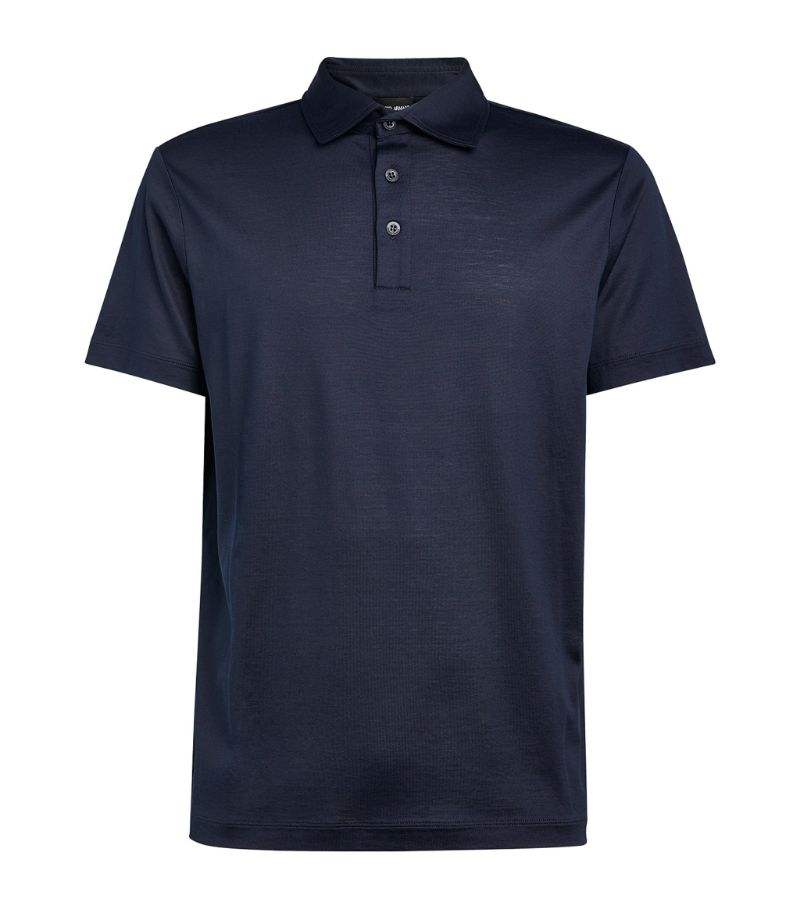 Giorgio Armani Silk-Cotton Polo Shirt