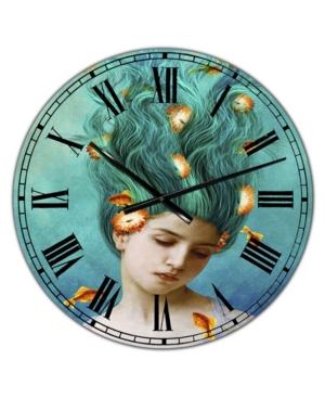 "Designart Sweet Allure Large Modern Wall Clock - 36"" x 28"" x 1"""